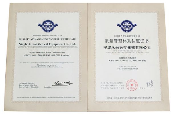 qualify management system certificate